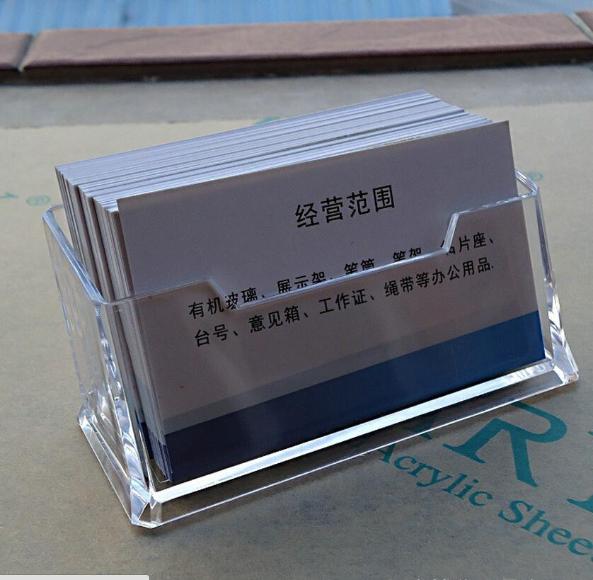 Wholesale one folder box business card holder personal card holders wholesale one folder box business card holder personal card holders and files aging resistant transparent acrylic 3mm thick business card holders card stand colourmoves