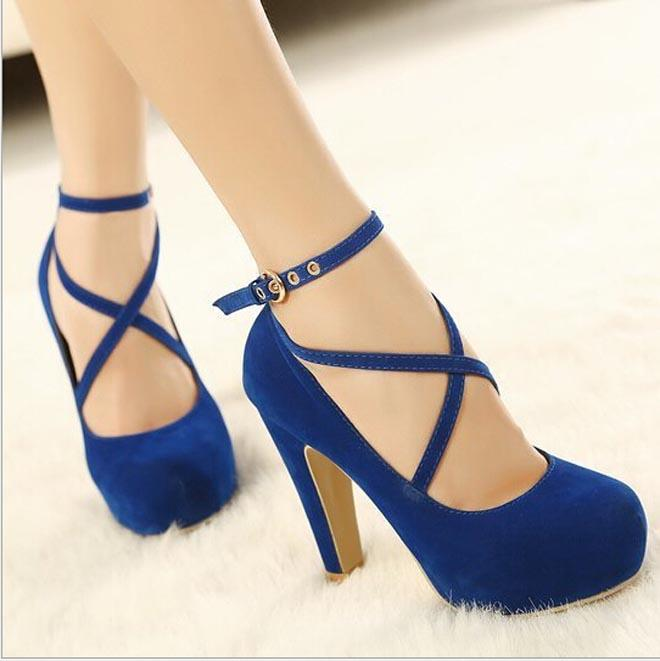 Women Strappy High Heels Pumps 2015 Sexy Women Dress Shoes Ladies ...