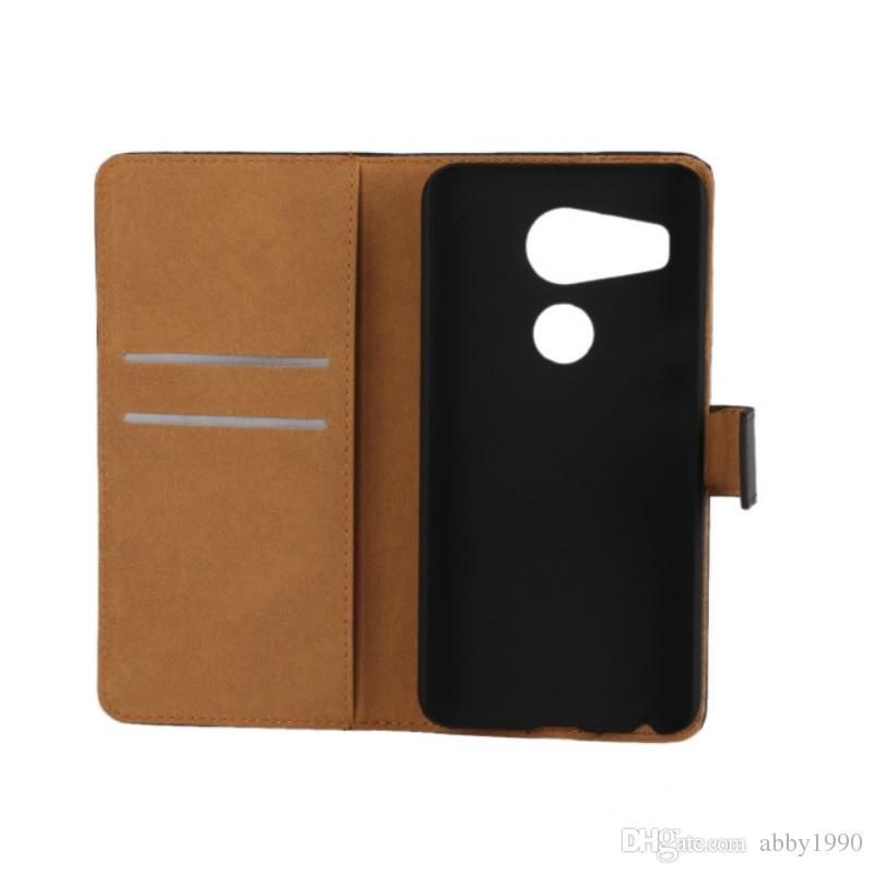 Wholesale New Arrive Genuine Leather Wallet Flip Cover Case for LG Nexus 5X H791 H790 with Stand Holder Drop Shipping