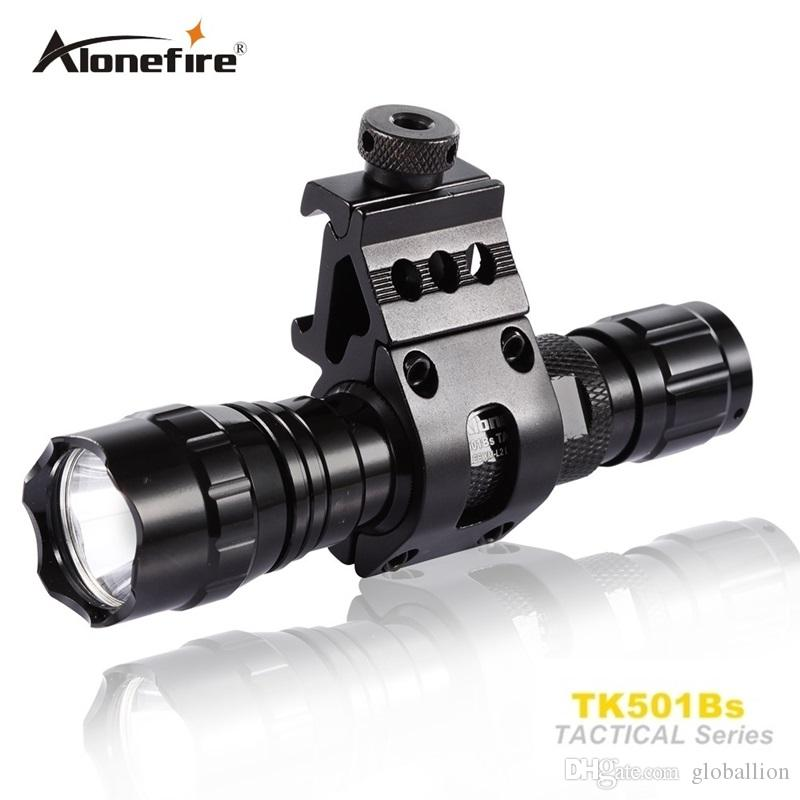 501B Tactical Flashlight 2000 lumen T6 Caccia Rifle Torch Shotgun illuminazione Shot Gun Mount + Tactical mount + Remote switch