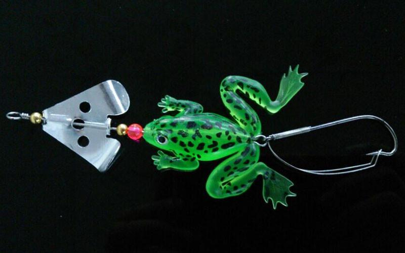 "Soft Rubber Frog Fishing Crank Bait Tackle Hooks 9cm 3.54"" 6.2g Frog Lure Bass Pesca Fishing Bait"