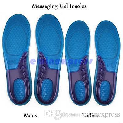 Men Women Silicone Gel Orthotic Arch Support Massage Sport Shoe Insoles Run Pad Shockproof 100% Brand New And High Quality