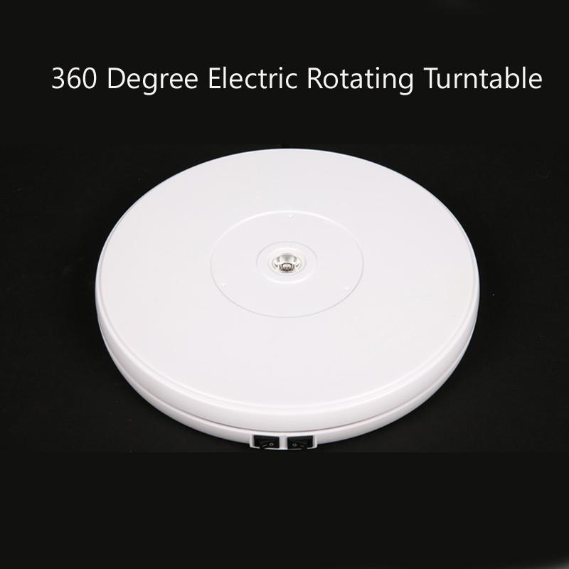 25CM Shop Display Stand 360 Degree Rotating Turntable with LED Light NEW