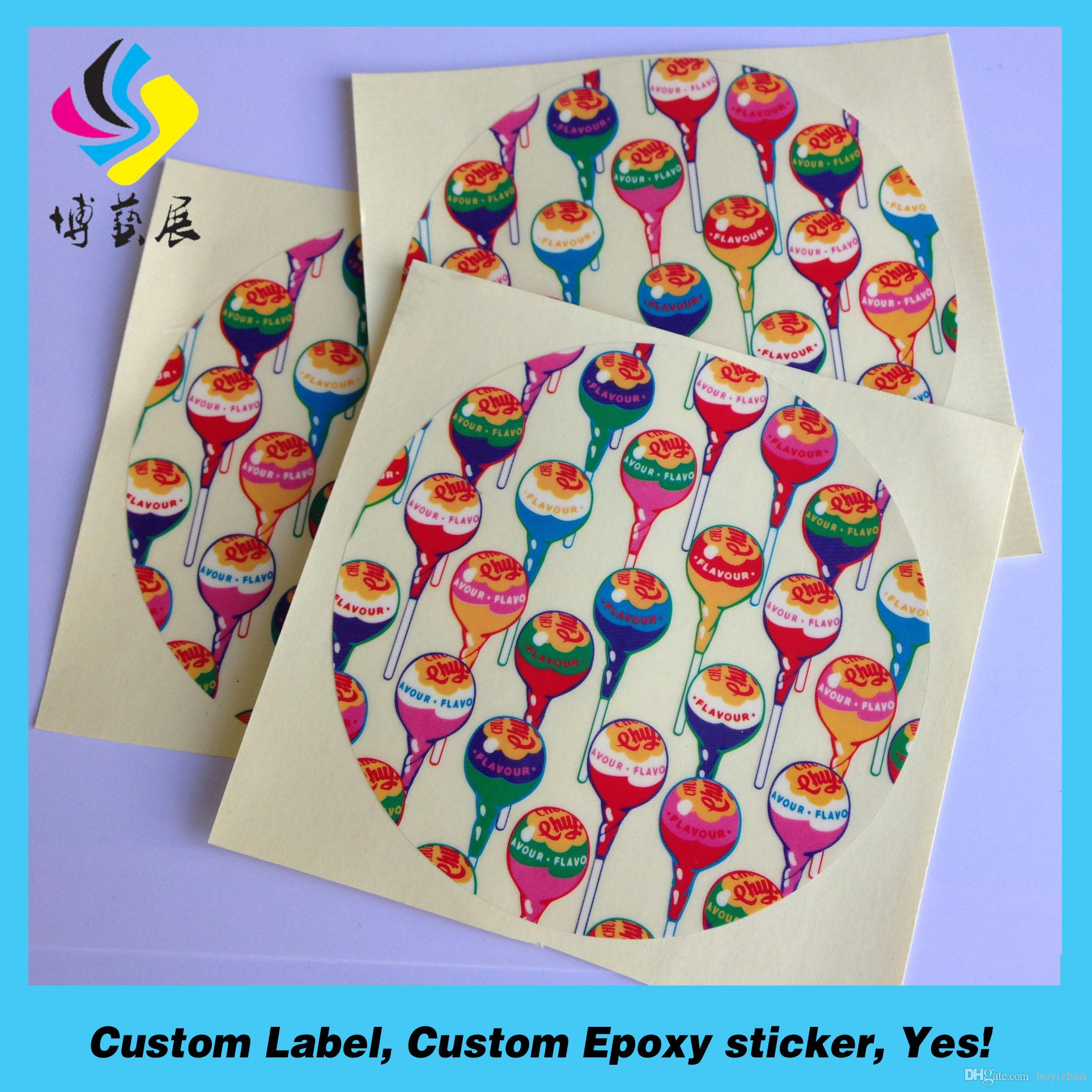 Make custom waterproof stickers in all the colors you need. #customstickers  #circlestickers #