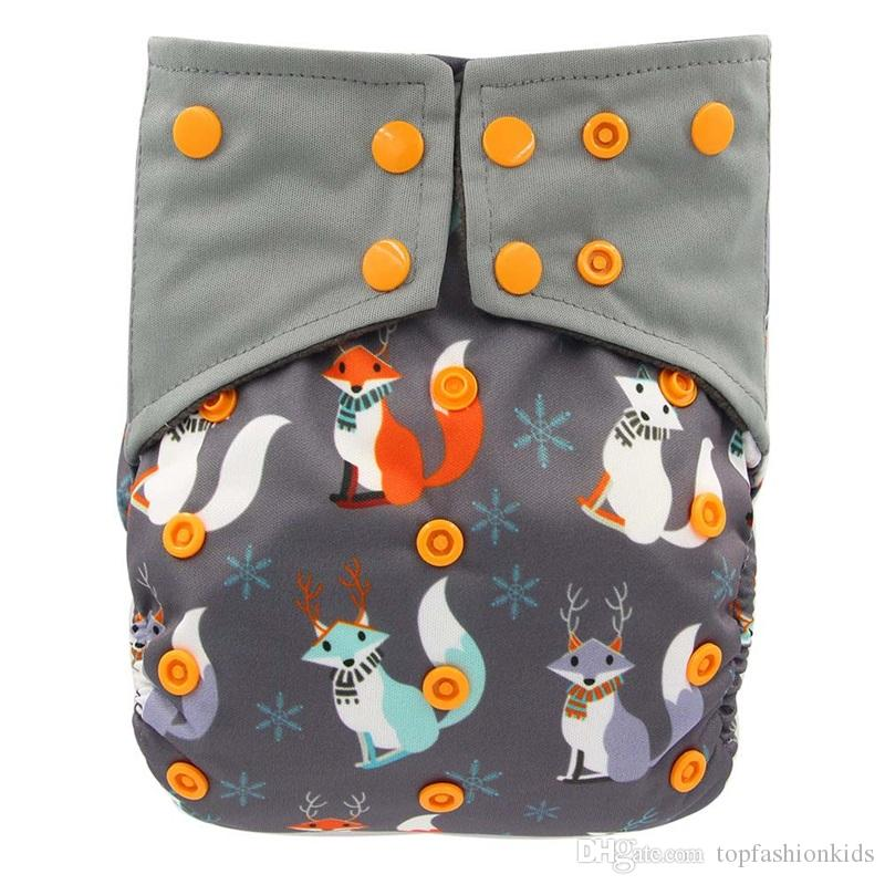 Reusable Cloth Diaper All-in-one AIO Baby Nappies Couche Lavable Waterproof Pocket Diaper Double Gussets Diaper Cover