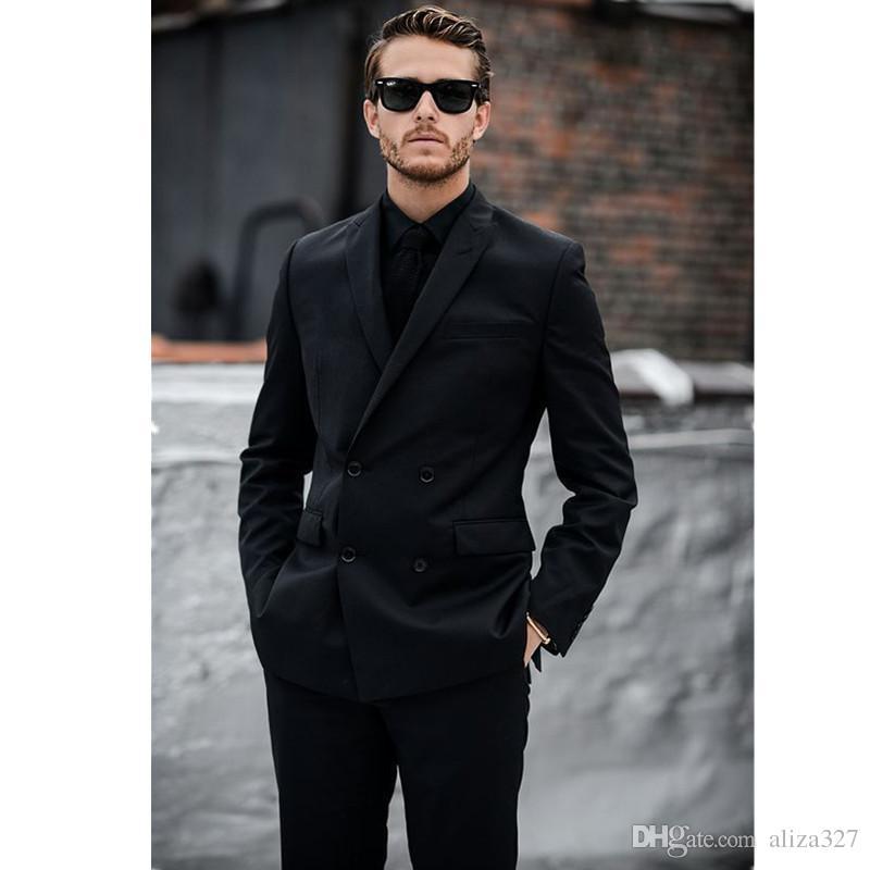 Stylish Men'S Black Office Suit And Business Black Suit ...