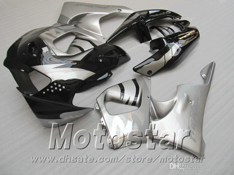 High quality fairing kit for Honda CBR900RR fairings 1998 1999 silver black bodywork CBR900 RR CBR919 98 99 QD26