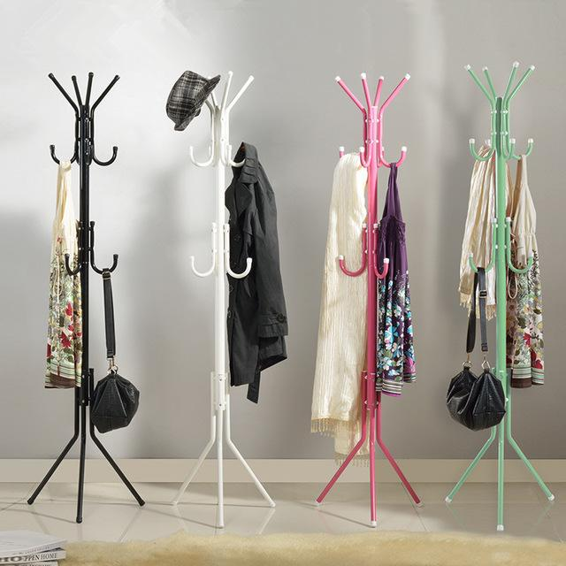 2018 fashion hat bag hang coat rack metal tripod stand - Percheros para bolsos ...