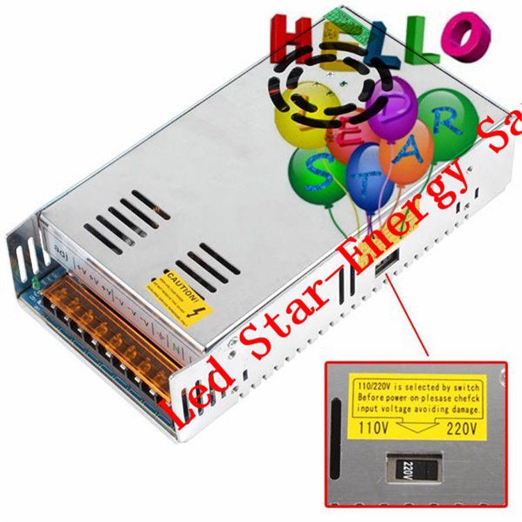 Alta qualità DC 12V trasformatore led 70W 120W 180W 200W 240W 300W 360W 400W Alimentazione elettrica strisce Led Moduli Led AC 100-240V