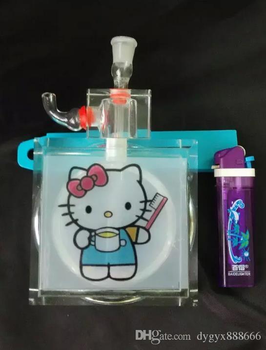 Wholesale 2015 new k9 cartoon crystal glass Hookah 15 * 8.5cm, presented a full accessories