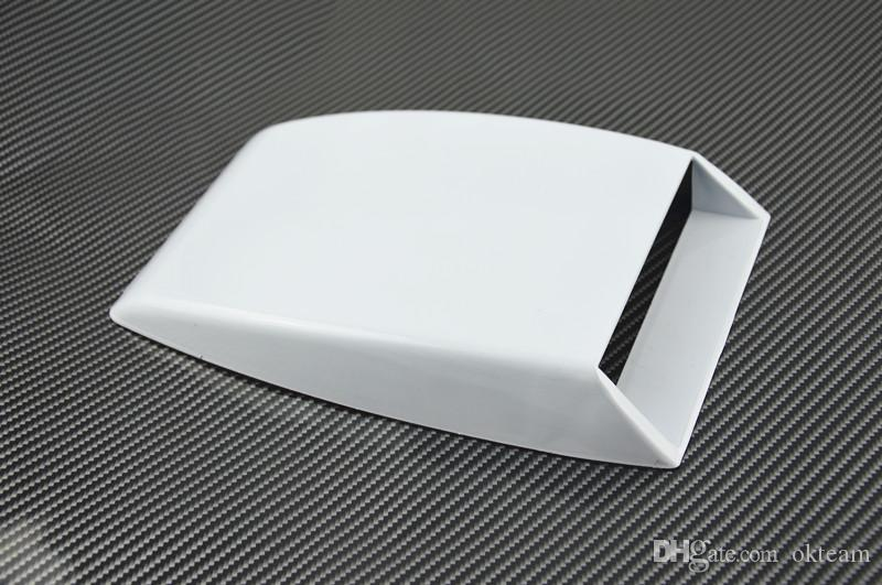 car styling black/white/Silver Universal Car decorative Air Flow Intake Scoop Turbo Bonnet Vent Cover hood decorate