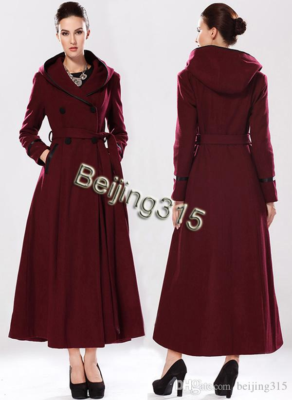 2017 New Arrival Fashion Women Hooded Wool Coat Plus Size Lady ...