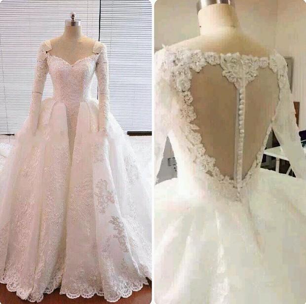 discount luxury heart shaped back plus size white lace wedding