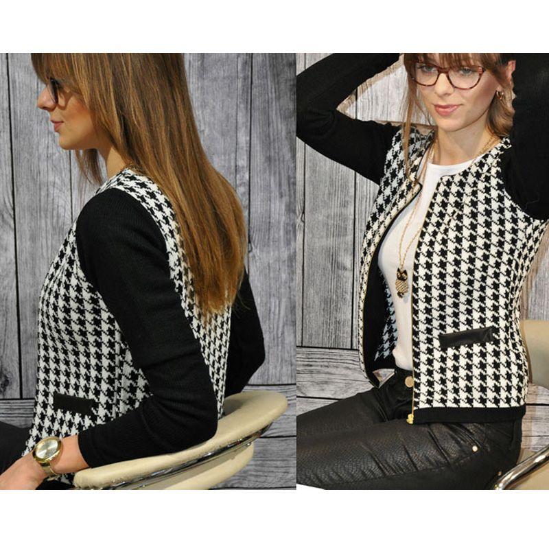 bombers jacket Fashion long sleeves Geometric Zippers Stitching Slim Short Women windbreaker Casual woman jacket
