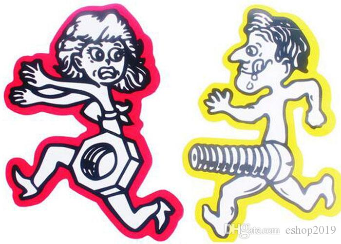 New Idea Funny Design Men Chase Women NutsBolts Car Sticker Car - Car sticker decal for girlsgirl motorcycle promotionshop for promotional girl motorcycle on