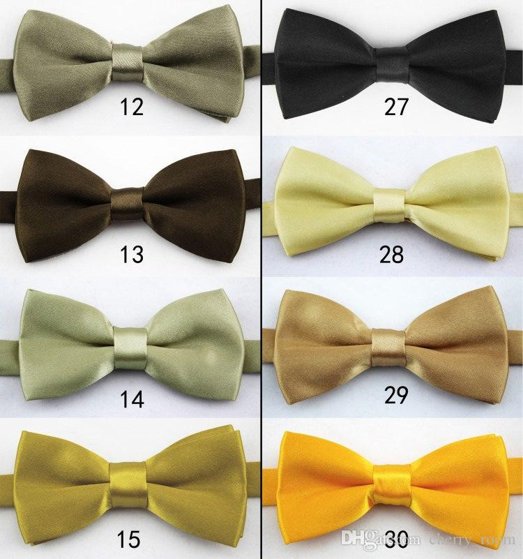 boys bow ties Fashion girls neck ties baby boy bow tie Pure Color Butterfly Children England Tie Kids Party Accessories 13 style A2763