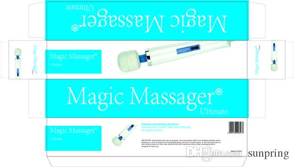 Masajeador de varita mágica de 30 velocidades con Hitachi Head, vibradores de varita AV, vibrante potente HandHeld Massager de cuerpo completo Juguetes sexuales /