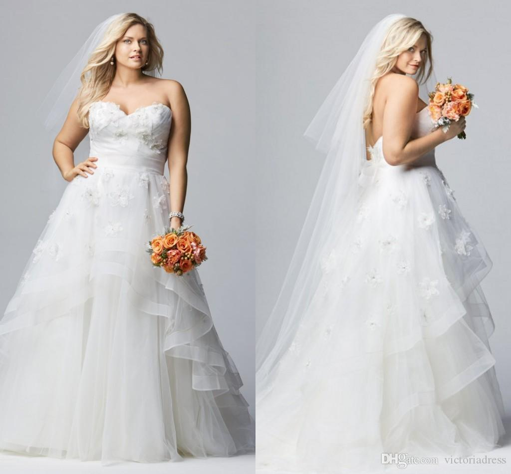 Fat wedding dresses wedding ideas for Best wedding dresses for short fat brides
