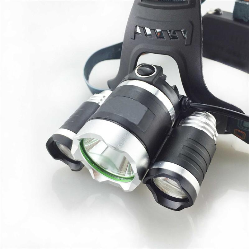Lampes frontales portables LED CREE T6 Camping en alliage d'aluminium 18650 Batterie 5000 Lumen Lampes de poche LED Phares Ampoules SP-LH-3