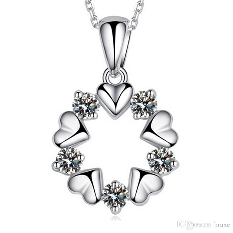 Best wholesale 925 sterling silver necklace sterling silver crystal best wholesale 925 sterling silver necklace sterling silver crystal pendant necklace female flowers and short necklace silver jewelry under 212 dhgate mozeypictures Image collections