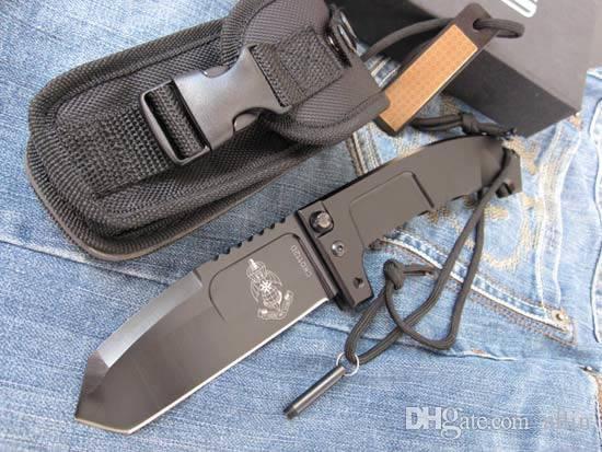 Коэффициент экстремумов РАО Тяжелое Tactical складной нож 440C лезвие 57HRC оси замок боевой нож с подарочной коробке упаковки