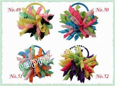 Korker détenteurs de queue de cheval streamer pour mélanger streamer poney Corker couleur colorée avec des accessoires cheveux corde élastique pour les cheveux enfants de PD006