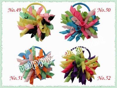 korker Pferdeschwanz Inhaber Streamer Farbe corker Pony Streamer bunt mit elastischen Haarseil-Haarzusätze Kinder PD006 mischen