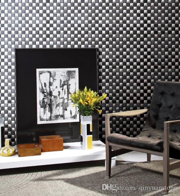 Dramatic statement of your wall tiles metal mosaic tiles shining glaze surface luxury design shower kitchen backsplash wall mounted mesh