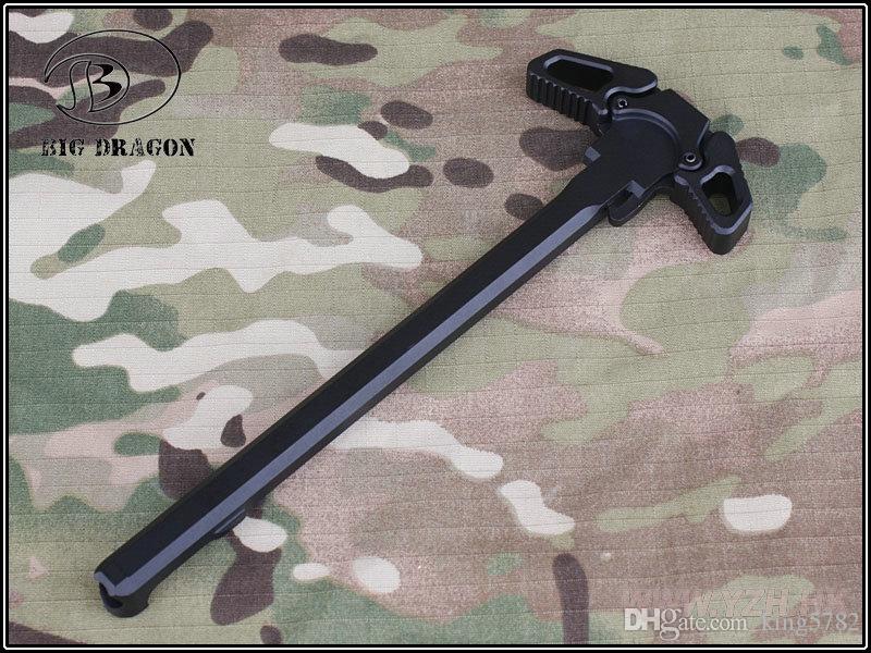 WA GP PTW M4 / M16 시리즈 Airsoft GBB 검정을위한 나비 작풍 금속 코킹 손잡이