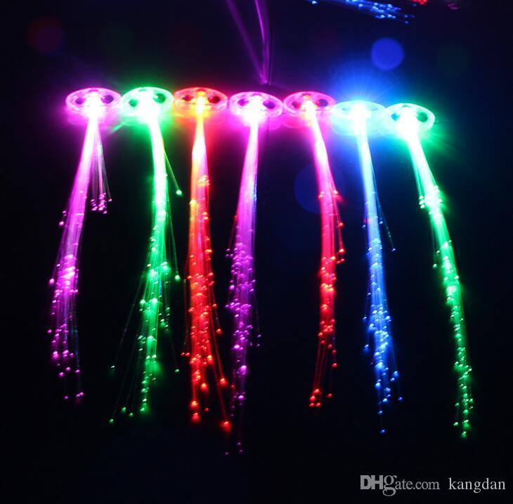 Led Haar Flash Braid Haar Dekoration Faser Luminous Braid für Halloween Weihnachten Geburtstag Hochzeit Urlaub Weihnachtsgeschenk
