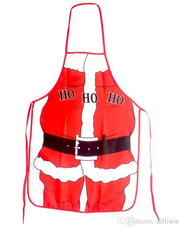 hot sale christmas aprons funny coverall apron adult santa aprons women and men dinner party cooking apron tablier seven style christmas apron cartoon apron - Christmas Apron