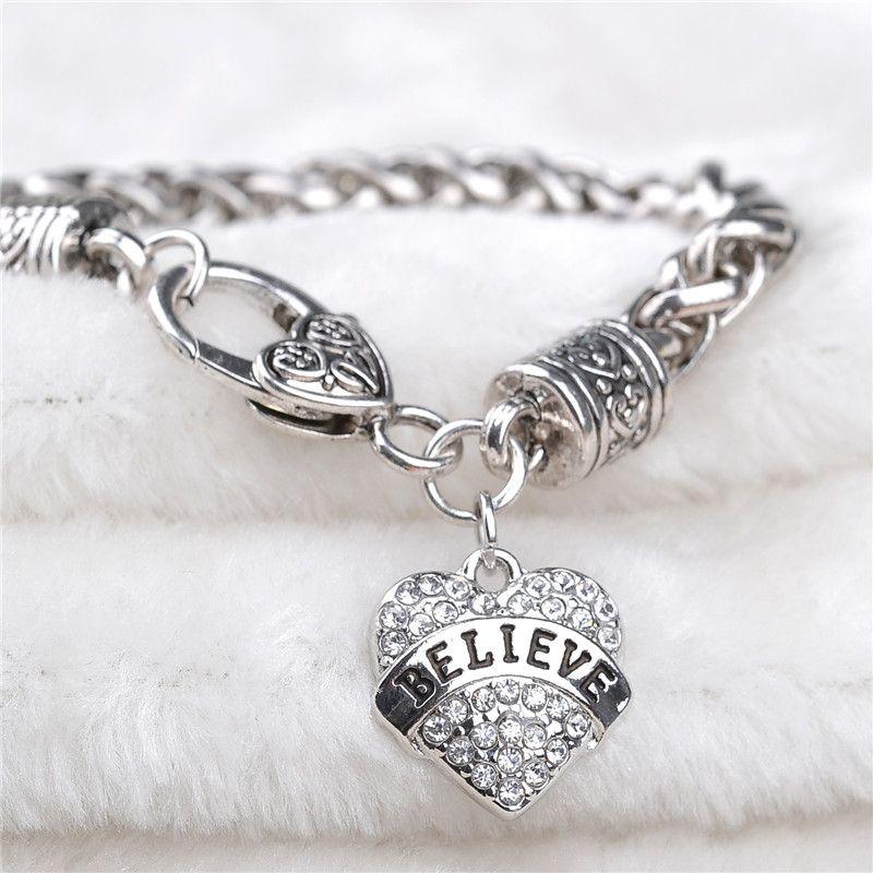 MOM SISTER MIMI NANA Family Member Fashion Heart Women Bracelet Top Quality Hot sterling silver jewelry ZJ-0903552