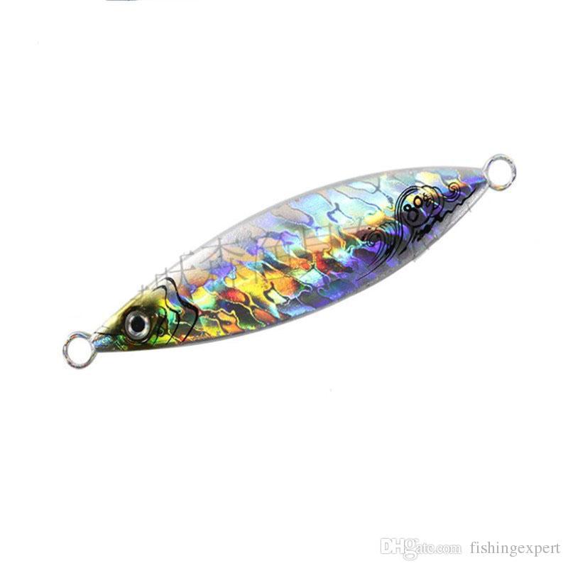 Hot Sale Slow Jigging Lure Laser Lead Fish Lure 20g-200g Metal Jig Baits or Fishing Flutter Jig for Saltwater
