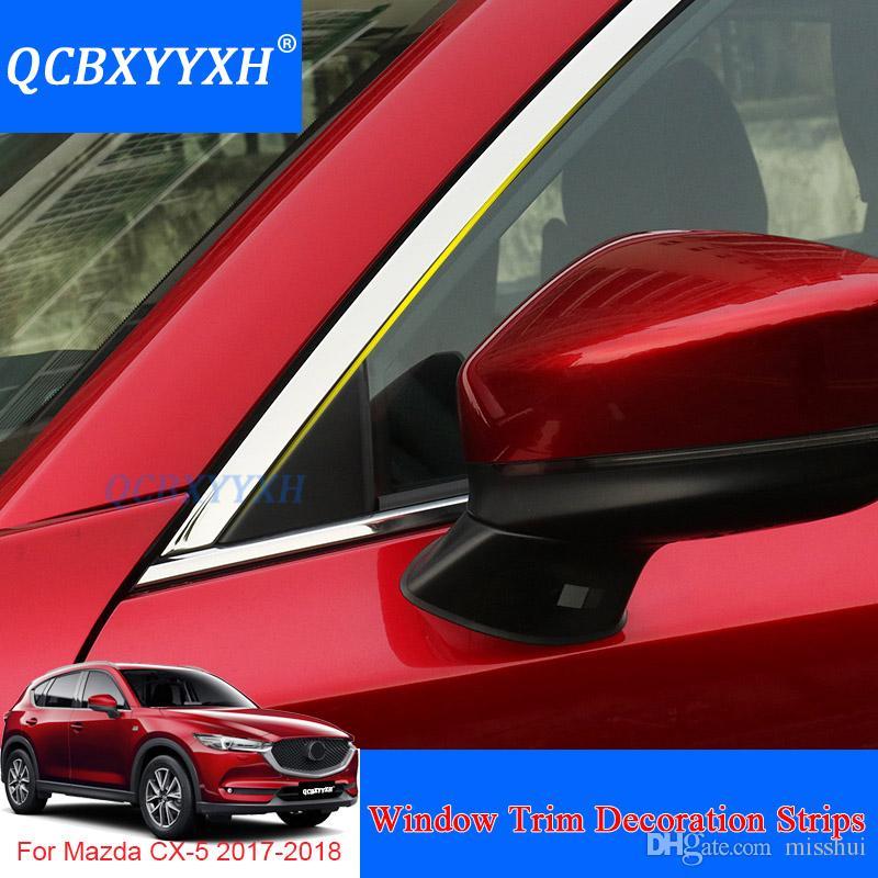 QCBXYYXH Pencere Trim Dekorasyon Şeritleri Mazda CX-5 2017-2018 Dış Dekorasyon Pullu Aksesuar Paslanmaz Çelik Araba Styling