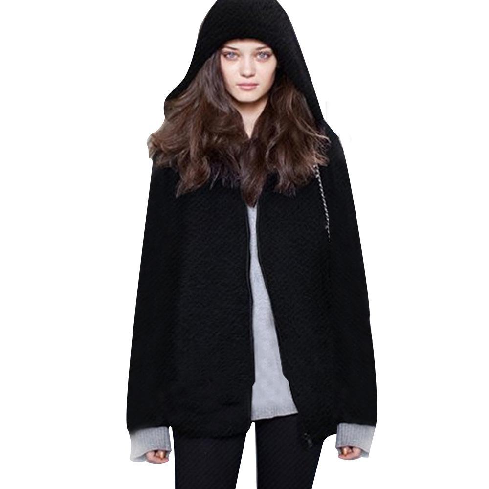 Plus Size 2XL 3XL 4XL New Winter Women Hoodies Sweatshirts Long Cool Black  Fluffy Outwear Thick Female Hoodies Zipper With Hood UK 2019 From  Jack16999 5b3ade0e2b87