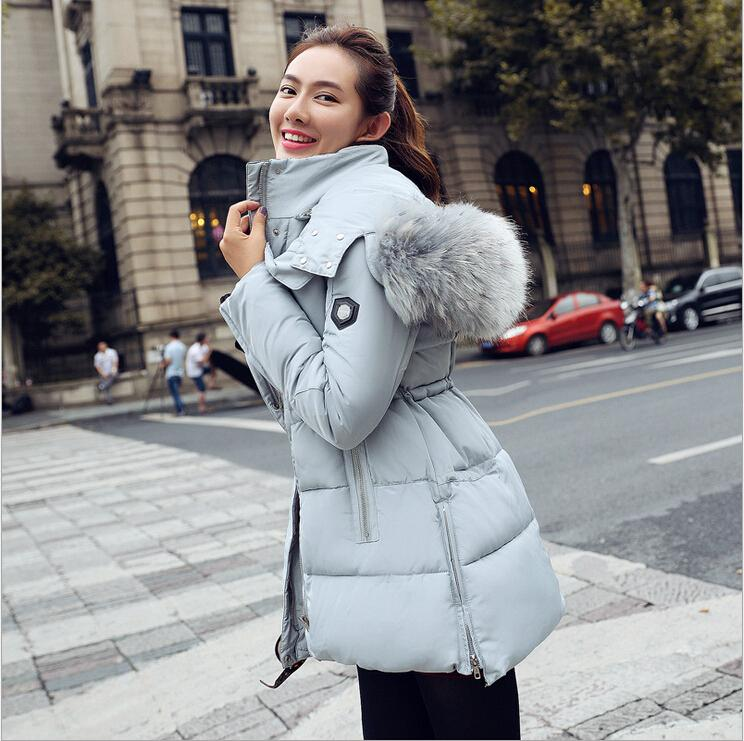 af1898a0d6126 2019 New Winter Women Clothes 2015 Fashion Women Winter Coats Long Down  Thicken Slim Cotton Down Padded Jacket Coat Hooded Fur Collar Down Parkas  From ...