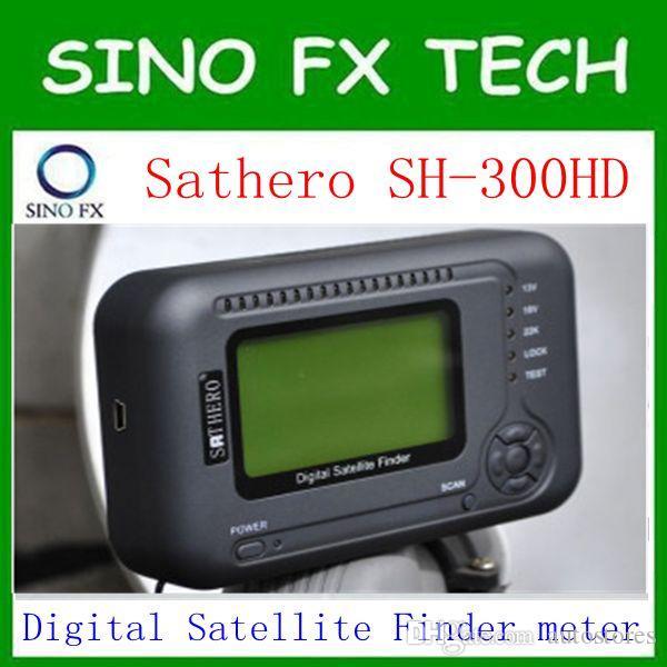 nave libre Sathero 300HD USB2.0 DVB-S / S2 HD Analizador de espectro Digital Satellite Finder Sathero SH300 Digital Meter
