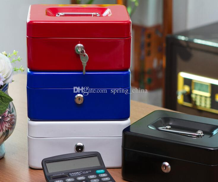 2018 Metal Cash Box Storage Box Safety Secret Money Case Lock Up