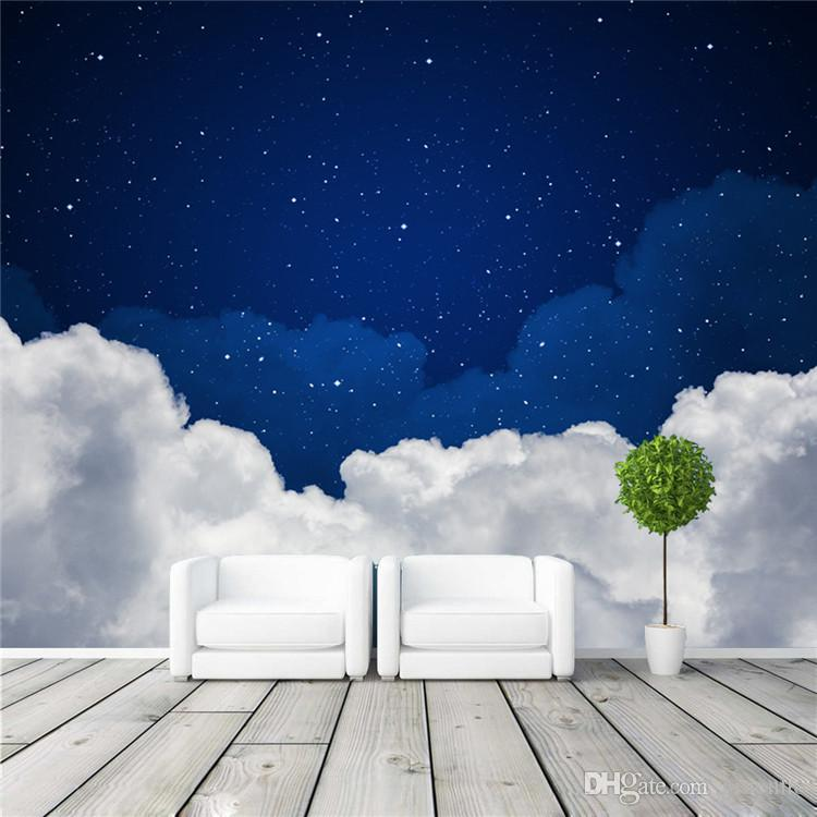 Night sky photo wallpaper galaxy wallpaper 3d charming for 3d photo wallpaper for living room