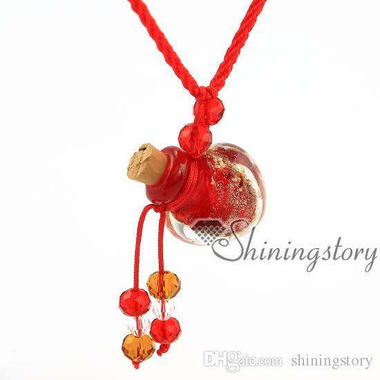 Kalp glitter aydınlık uçucu yağ takı toptan difüzör takı difüzör kolye diy parfüm şişesi kolye Parfüm şişesi