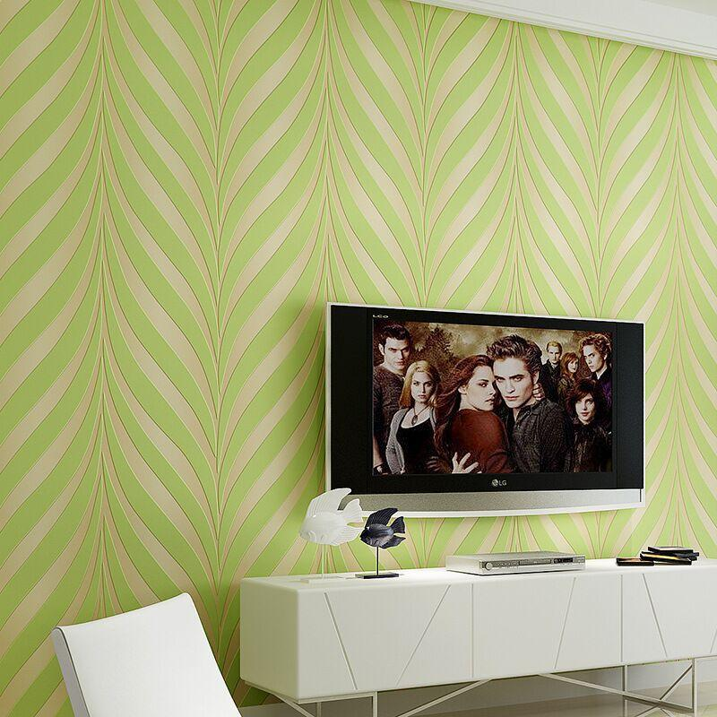 3D Wave Wallpapers Rolls Purple Green Yellow Non-woven Wall Paper Wedding Decoration Bedroom TV Background Wall Covering Gift