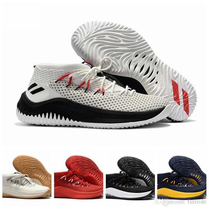 new product 8e923 6d8fe Acheter 2018 New D Lillard 4 Chaussures De Basket Dame 4 Rip City Blanc  Noir Rouge Un Dyed Signature Sports Pour Hommes Marque Sneakers 7 12 De   91.75 Du ...