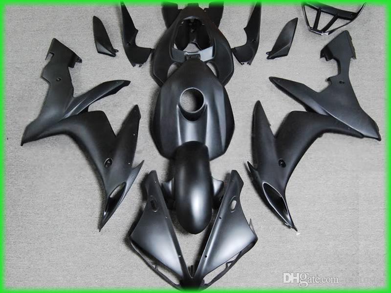 طقم أدوات لراكبي الدراجات النارية لياماها R1 2004 أسود لامع yzf 2005 2006 R1 04 05 06 fairings 46MB