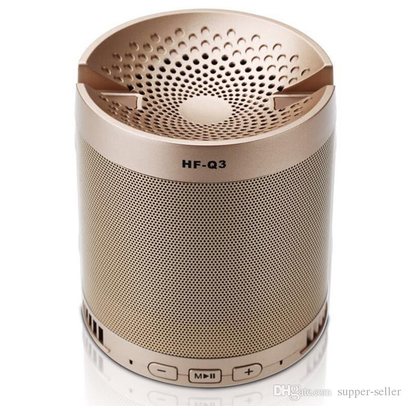 HF-Q3 Multi functional Wireless Portable Mini Bluetooth Speaker Subwoofer Receiver with Mic For Phone support mobile phone