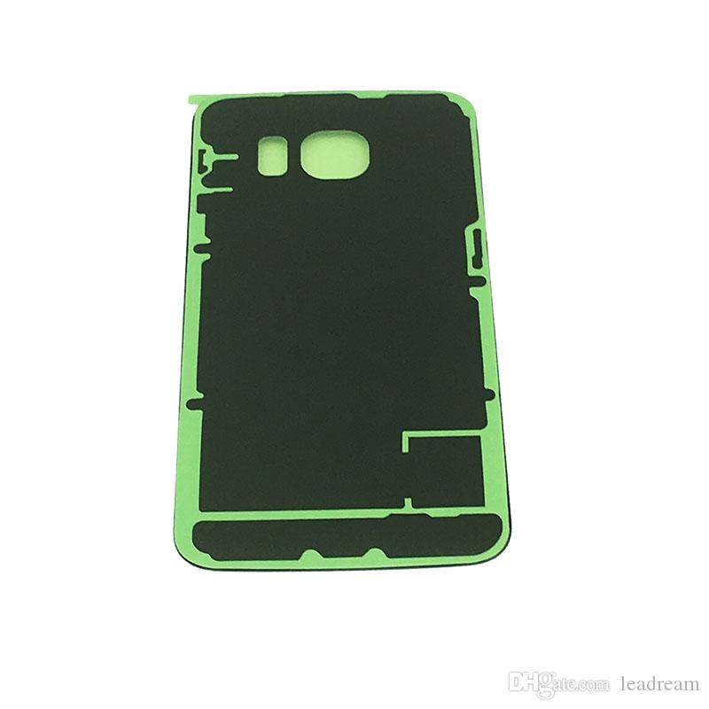 For Samsung Galaxy S6 S7 Edge S8 S6 Edge Plus Note 5 8 OEM Battery Door Back Housing Cover Glass Cover with Adhesive Sticker Black Color