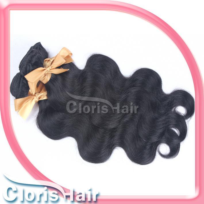 브라질 인간의 몸 파 머리 연장 저렴한 원료 처리되지 않은 물결 모양의 레미직 더블린 씨실 뭉치를 혼합한 길이의 4 개