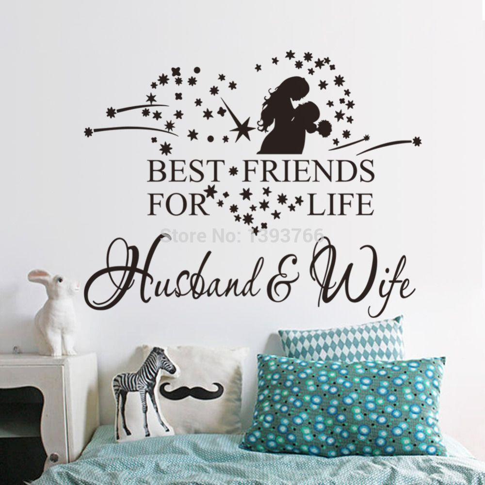 wife husband wedding decal bedroom wall sticker wedding decoration