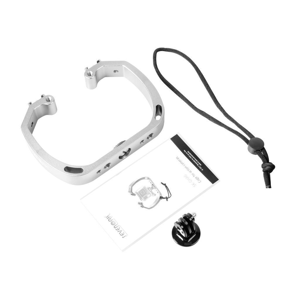 Diving Underwater Handheld Action Camera Holder Double-Arm Tray Support Stabilizer Holder Cage Selfie Monopod Mount For GoPor (12)