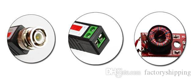 Coax Cat5 Camera CCTV BNC Video Balun Transceiver UTP Receiver Transmitter Fedex / DHL