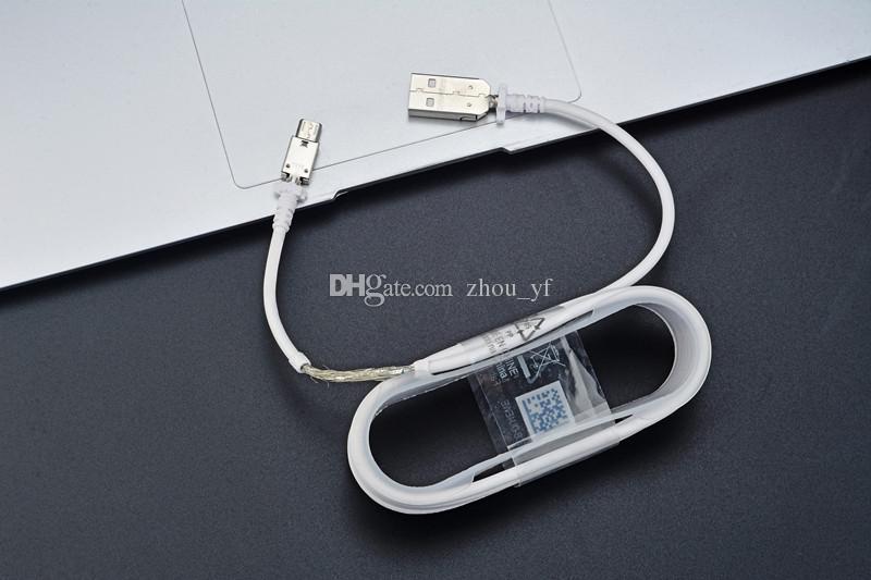 Pour Samsung S7 Chargeur mural rapide Chargeur de voiture pour S6 Note 5 Adaptateur de voyage 1.5M Micro USB Cable Kits 5V 2A Version EU EU Plug Logo Opp Sac